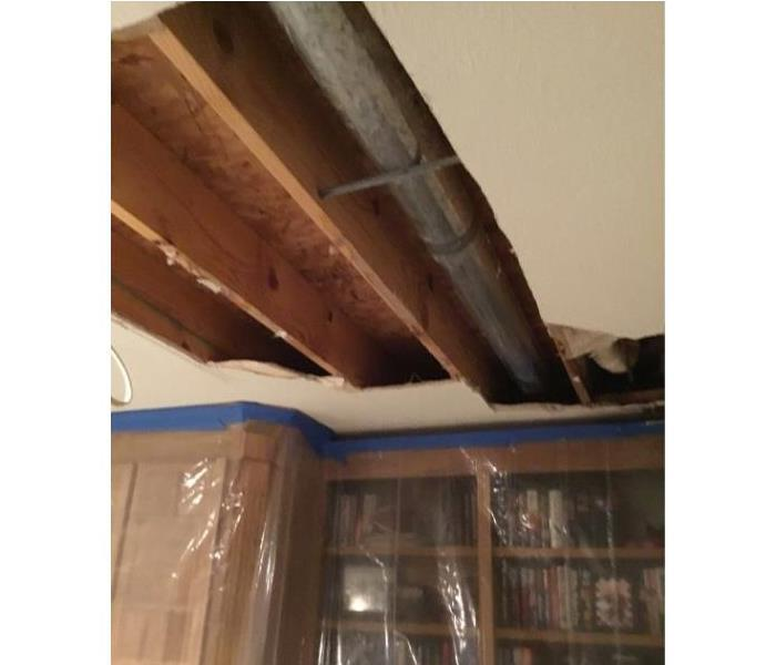 Water Damage in Zionsville from a Pipe Burst  Before
